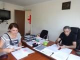 Информ. встреча с директором по ВПЛ Имеретинского р-на - Г. Сантеладзе